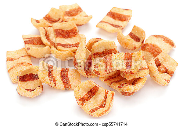 Pelleted salted snack bacon - csp55741714