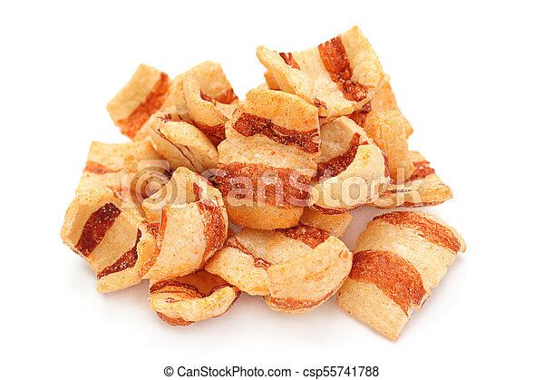 Pelleted salted snack bacon - csp55741788