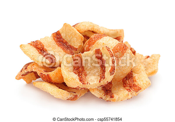 Pelleted salted snack bacon - csp55741854