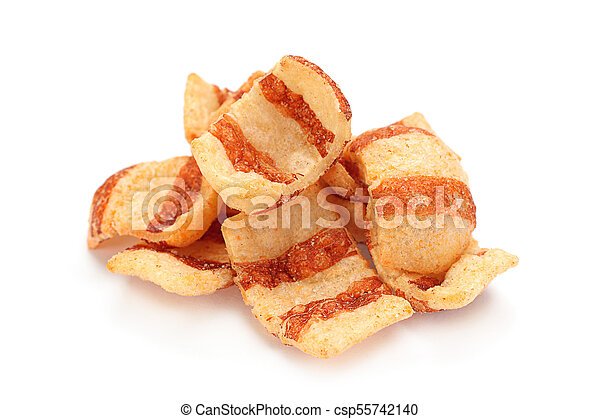 Pelleted salted snack bacon - csp55742140