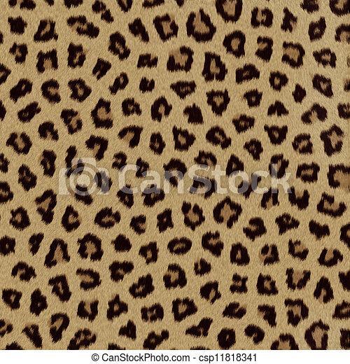 pelliccia, leopardo, (skin), struttura, fondo, o - csp11818341