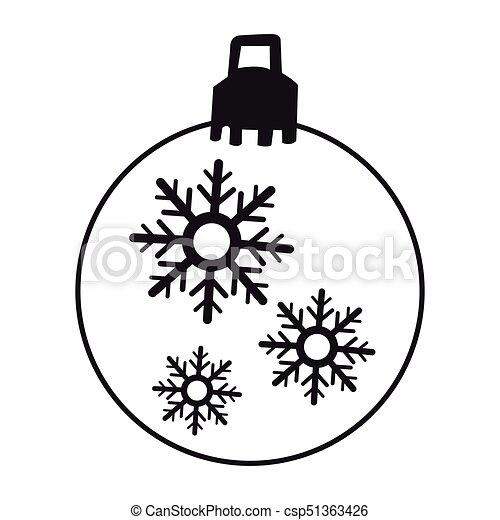 Bola de Navidad aislada - csp51363426