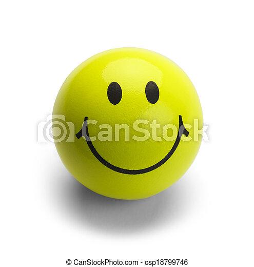 Bola amarilla sonriente - csp18799746