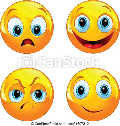 Bola amarilla sonriente - csp21697312