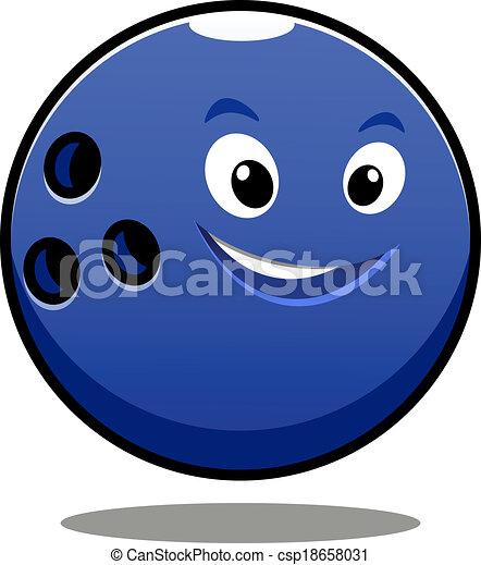 Feliz bola de boliche azul colorida - csp18658031
