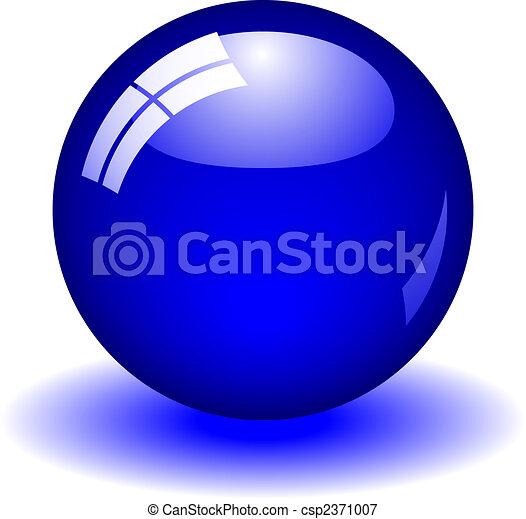 Bola azul - csp2371007
