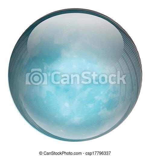 Una bola azul - csp17796337