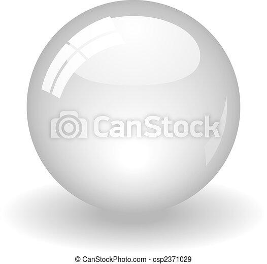 Bola blanca - csp2371029