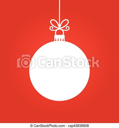 Bola blanca de Navidad - csp43838908