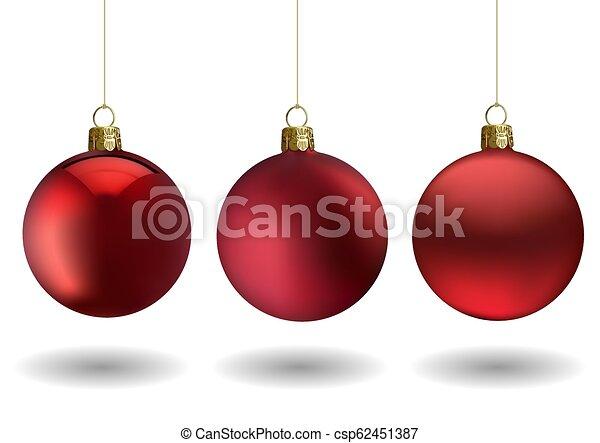 Bola de Navidad roja - csp62451387