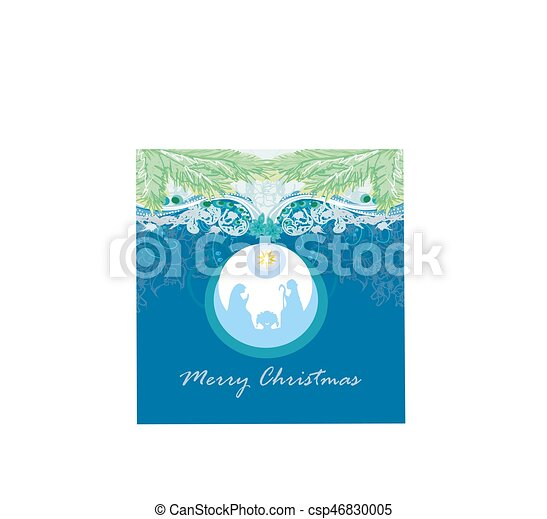 pelota, cristiano, escena abstracta, jesús, natividad, plano de fondo, ahorcadura, bebé, navidad, transparente - csp46830005