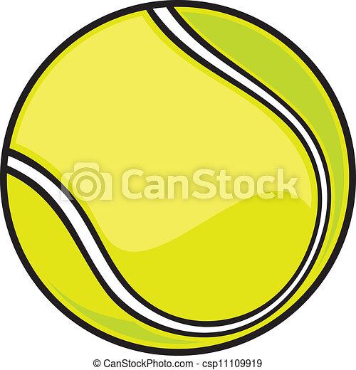 Bola de tenis - csp11109919