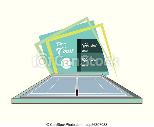 Cortes de tenis con pelota - csp56307033