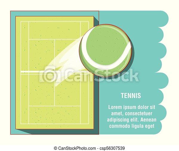 Cortes de tenis con pelota - csp56307539