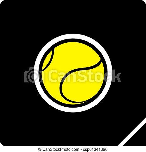 icono de pelota de tenis - csp61341398