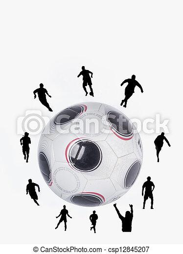 Bola de fútbol - csp12845207