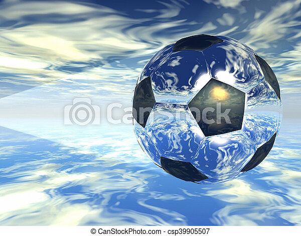 Bola de fútbol - csp39905507