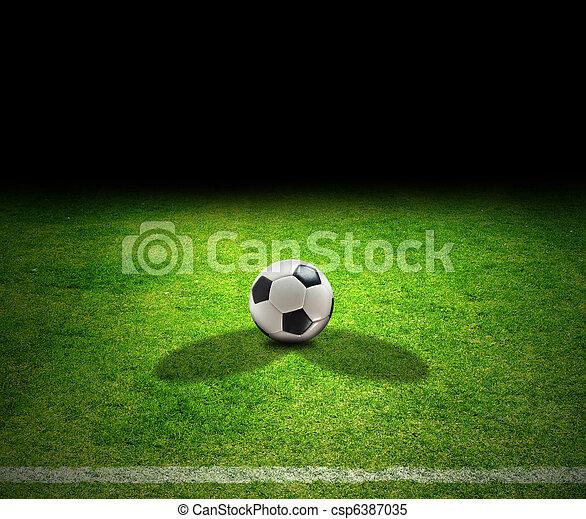 Bola de fútbol - csp6387035