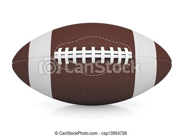 c3c4708740 pelota del fútbol americano estadounidense - csp13954726