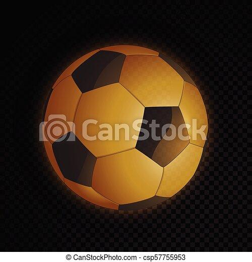 Bola de fútbol de oro - csp57755953