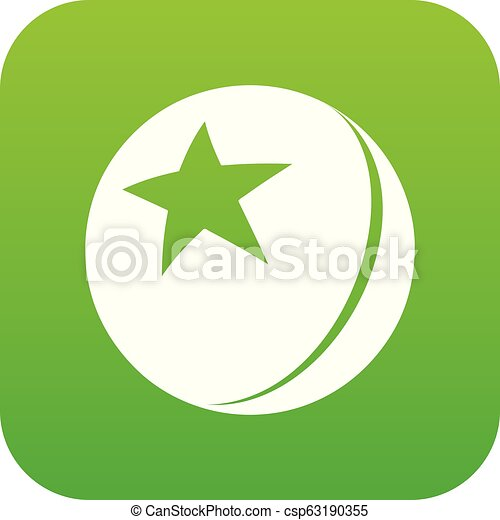 Glossy Star Ball vector verde - csp63190355