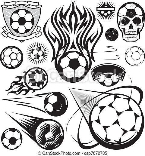 Pelota Futbol Colección Pelotas Fútbol Arte Colección Clip