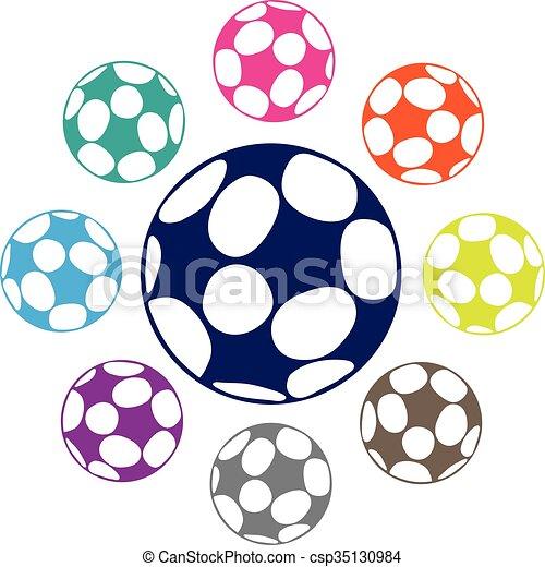 Bola de fútbol - csp35130984