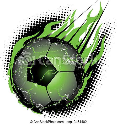 pelota, futbol, meteoro - csp13454402