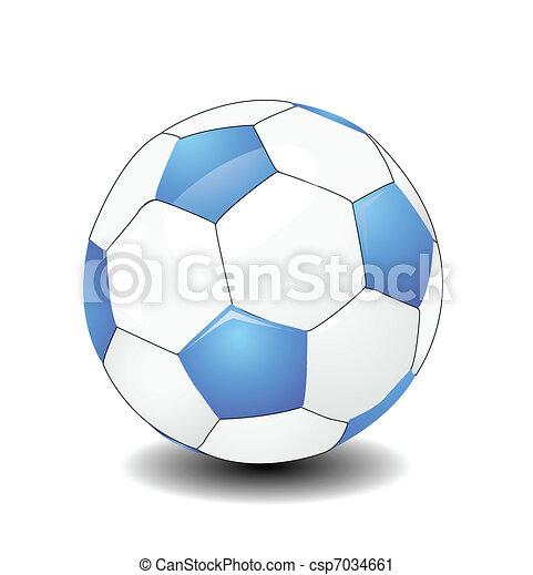 Una pelota de fútbol - csp7034661