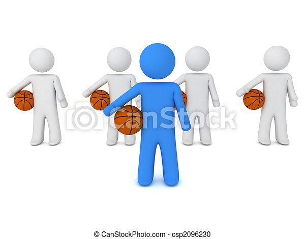 Gente con pelota - csp2096230