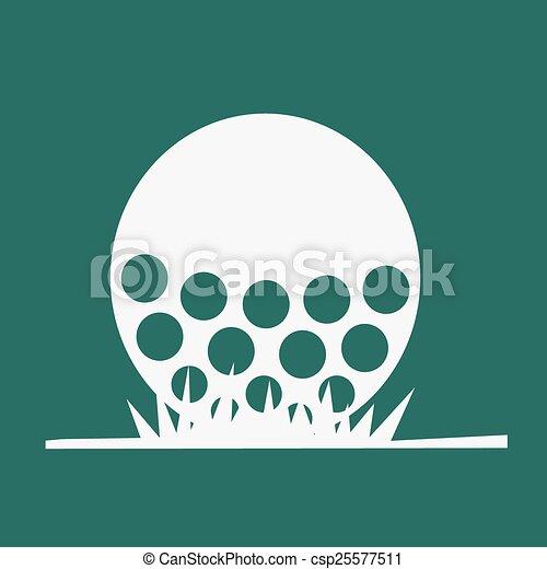 Bola de golf - csp25577511