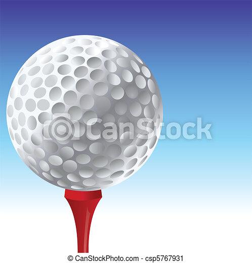 Bola de golf - csp5767931