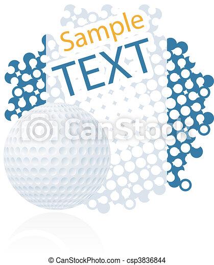 Bola de golf - csp3836844