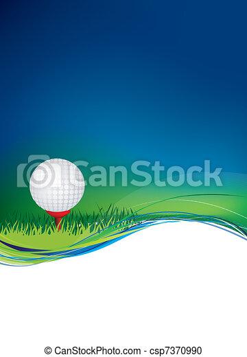 Bola de golf en el fondo con área de copia - csp7370990
