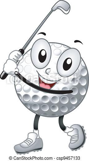 Mascota de Golf - csp9457133