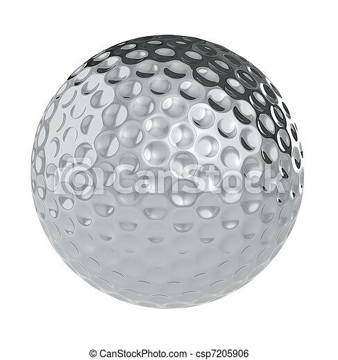 Una pelota de golf de plata - csp7205906