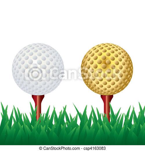 Bola de golf - csp4163083