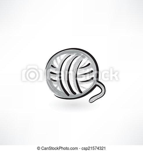 Bola de icono grunge - csp21574321