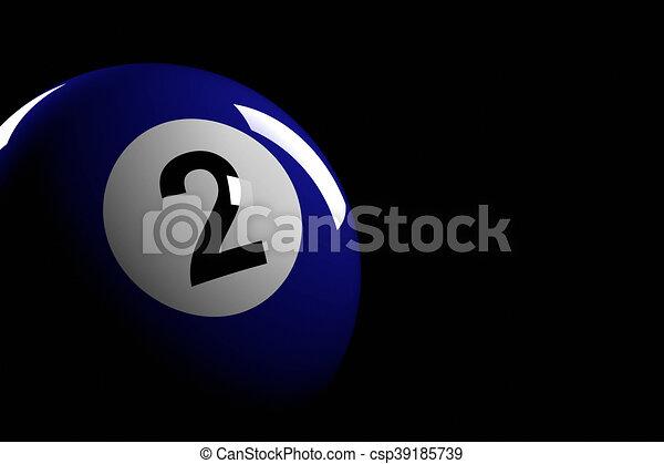 Bola De Billar Número 2 Versión 3d 3d De Bola De Billar Número 2 Canstock
