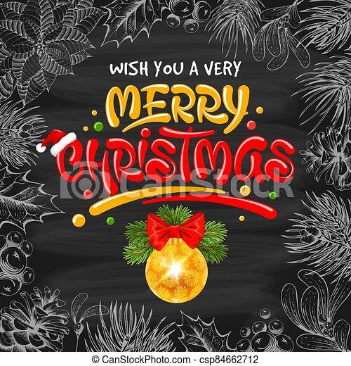 pelota, navidad, alegre, plano de fondo, letras - csp84662712