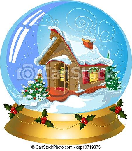 Bola de nieve navideña - csp10719375