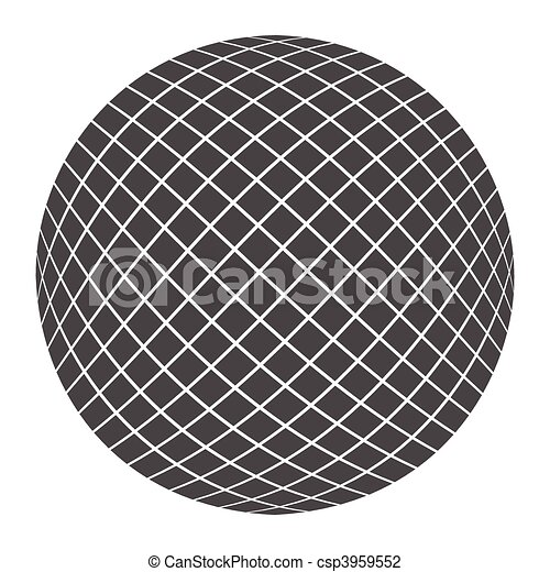 Bola negra - csp3959552