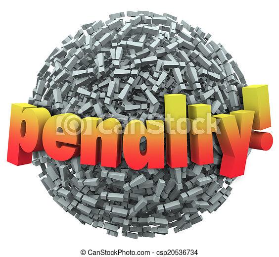 pelota, palabra, excalmation, punto, marca, pena, multa, castigo, 3d - csp20536734