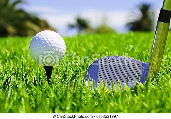 Clubes de baile y golf - csp3531997