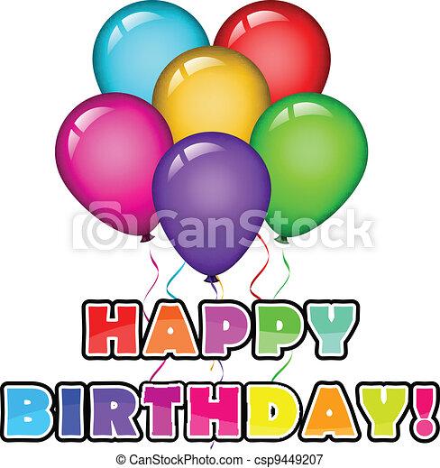 Feliz cumpleaños con pelota - csp9449207