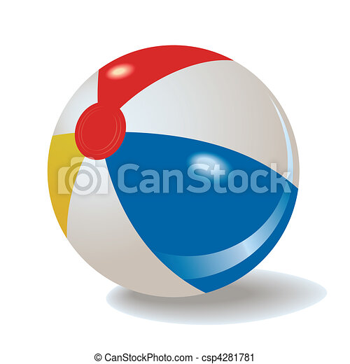 pelota, playa - csp4281781
