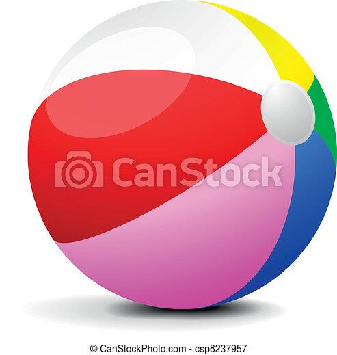 Bola de playa - csp8237957