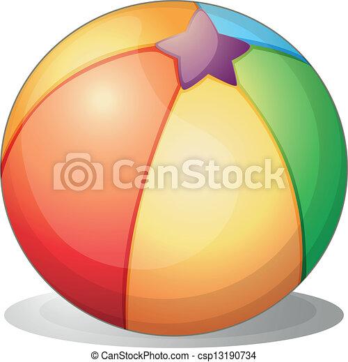 Una pelota de playa - csp13190734
