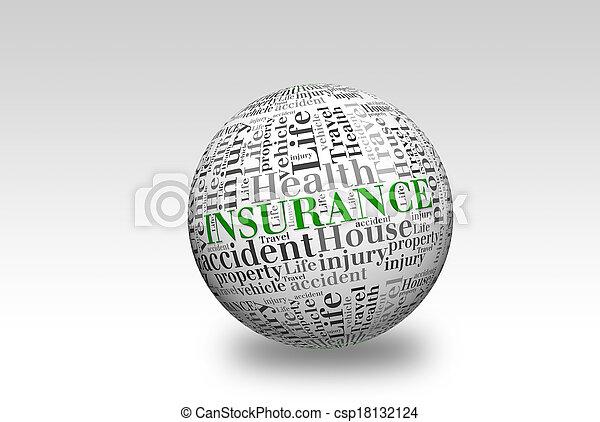 Bola de seguro 3D - csp18132124