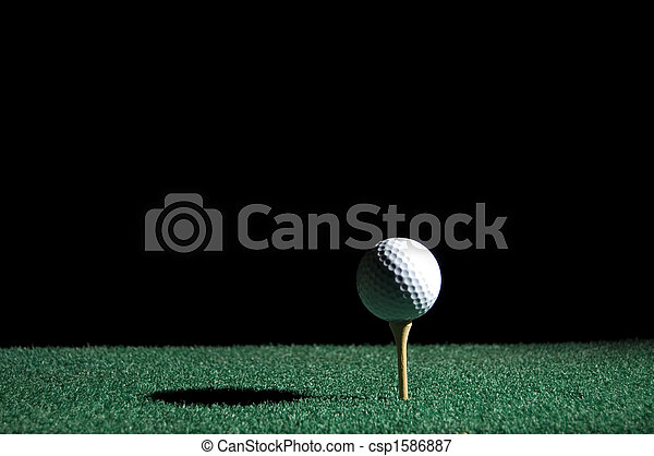 Golf ball and tee - csp1586887